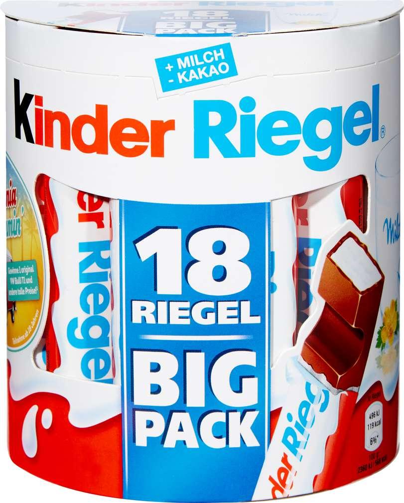 Abbildung des Sortimentsartikels Ferrero Kinder Schokoriegel 378g=18 Stück