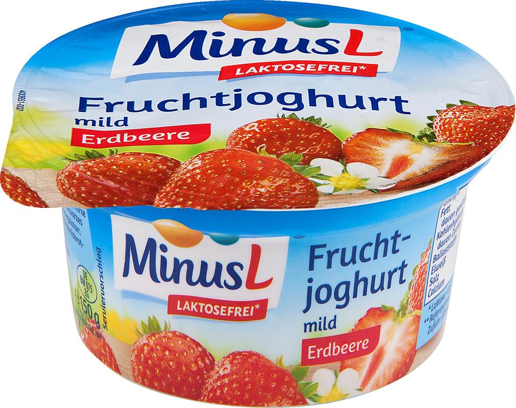 Abbildung des Sortimentsartikels MinusL Laktosefreier Fruchtjoghurt Erdbeere