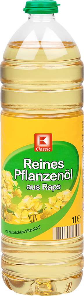 Abbildung des Sortimentsartikels K-Classic Reines Pflanzenöl aus Raps 1l