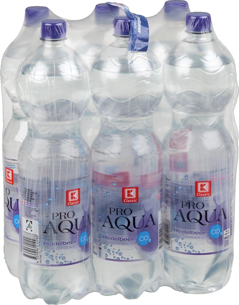 Abbildung des Sortimentsartikels K-Classic Pro Aqua Heidelbeer-Geschmack 6x1,5l