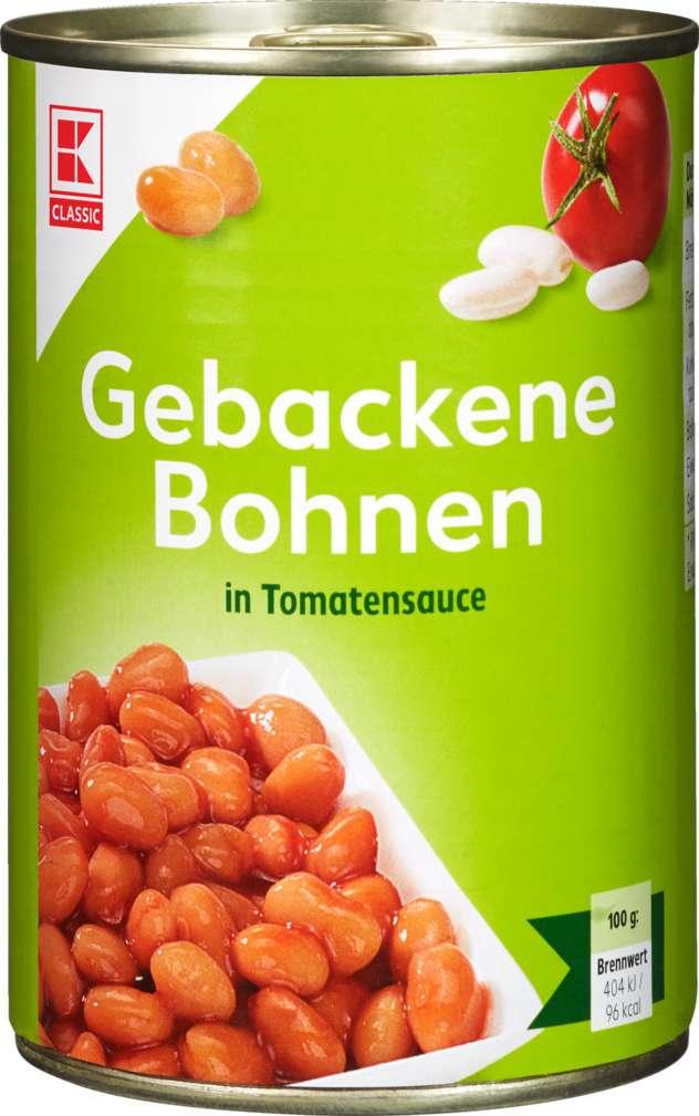 Abbildung des Sortimentsartikels K-Classic Gebackene Bohnen in Tomatensauce 425ml