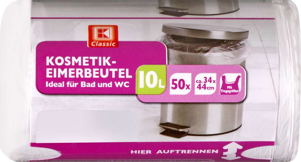 Abbildung des Sortimentsartikels K-Classic Kosmetikeimerbeutel 10 Liter 50 Stück
