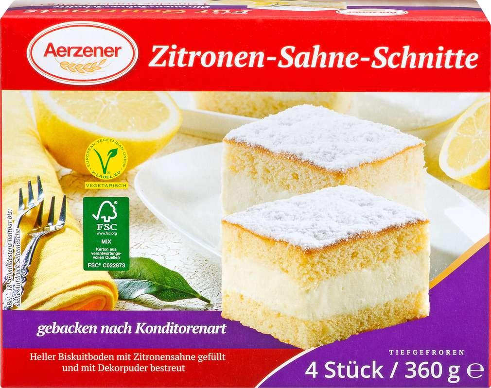 Abbildung des Sortimentsartikels Aerzener Zitronen-Sahne-Schnitte 360g