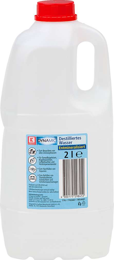 Abbildung des Sortimentsartikels K-Classic Destilliertes Wasser 2l