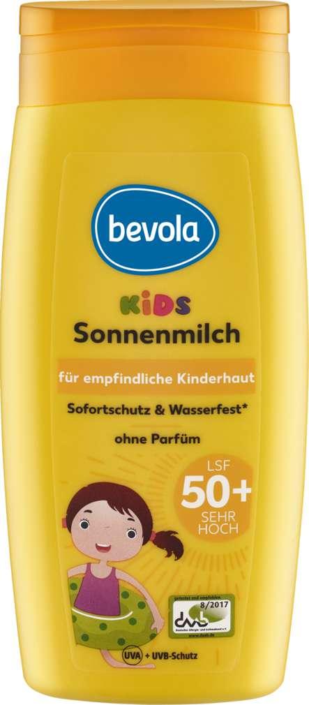Abbildung des Sortimentsartikels Bevola Sonnenschutz Milch Kids LSF50 250ml