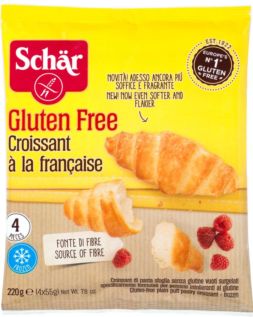 Abbildung des Sortimentsartikels Schär Croissant glutenfrei 220g