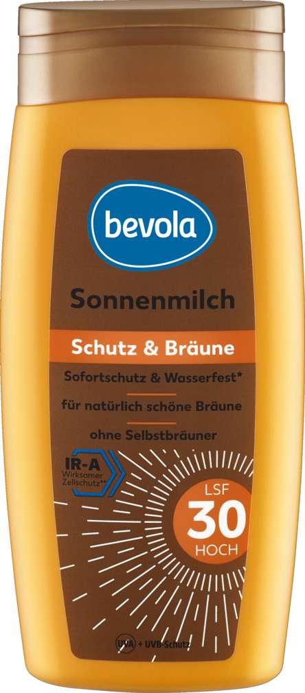Abbildung des Sortimentsartikels Bevola Sonnenschutz Milch Bräuner LSF30 250ml