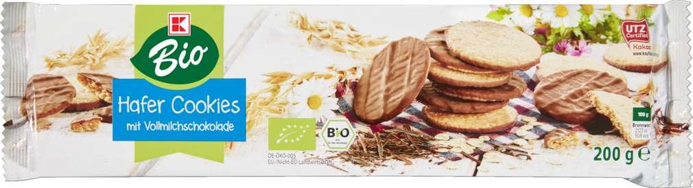 Abbildung des Sortimentsartikels K-Bio Hafer-Cookies Vollmilch 200g