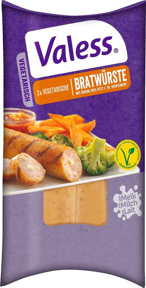 Abbildung des Sortimentsartikels Valess Bratwürstchen vegetarisch 180g, 2 Stück