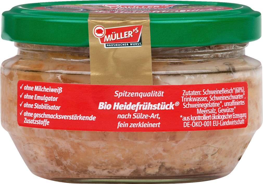 Abbildung des Sortimentsartikels Müller's Hausmacher Wurst Bio-Heidefrühstück 160g