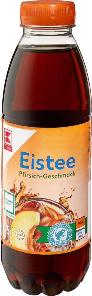 Abbildung des Sortimentsartikels K-Classic Eistee Pfirsich 0,5l