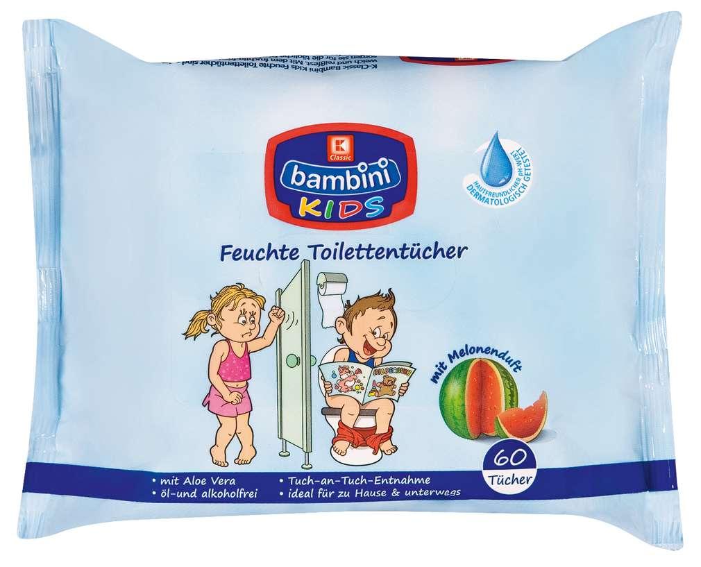 Abbildung des Sortimentsartikels K-Classic Bambini Kids Feuchte Toilettentücher 60 Stück