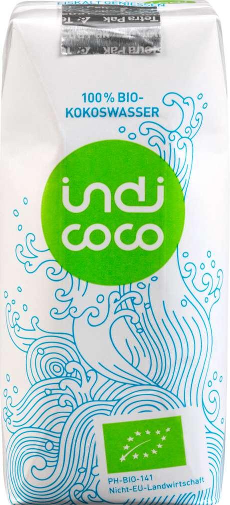 Abbildung des Sortimentsartikels indi coco Kokoswasser 0,33l