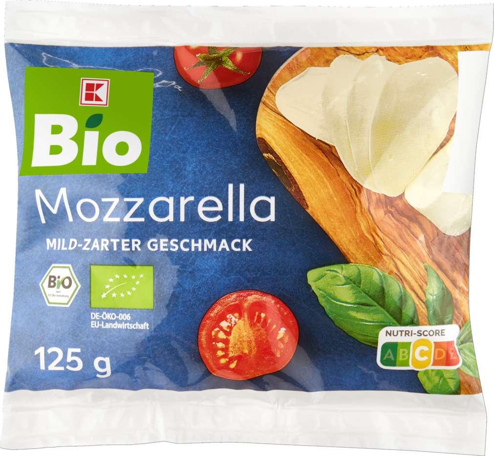 Abbildung des Sortimentsartikels K-Bio K-Bio Mozzarella 45% Fett i.Tr. 125g