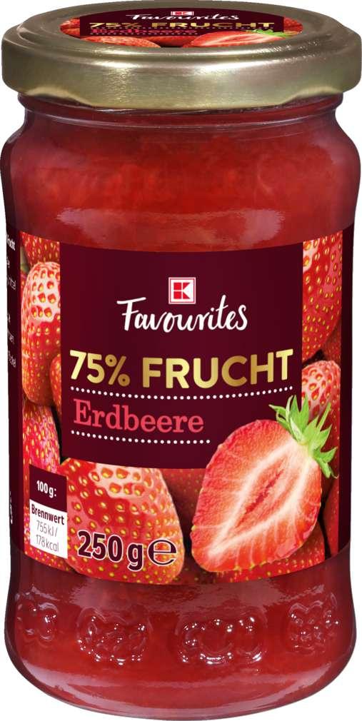 Abbildung des Sortimentsartikels K-Favourites Fruchtaufstrich  Erdbeere 75% 250g