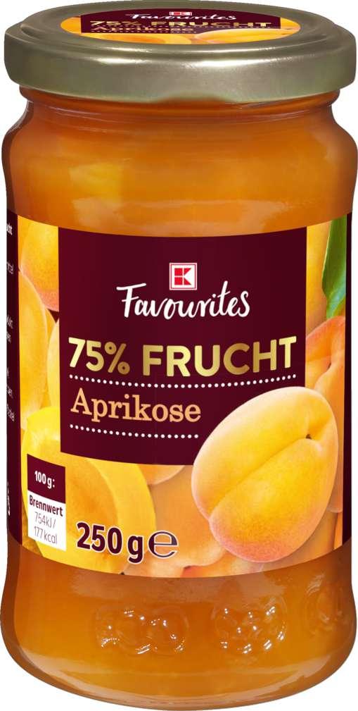 Abbildung des Sortimentsartikels K-Favourites Fruchtaufstrich Aprikose 75% 250g