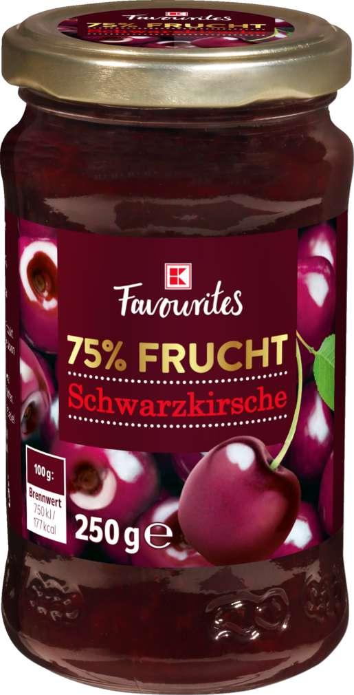 Abbildung des Sortimentsartikels K-Favourites Fruchtaufstrich  Schwarzkirsche 75% 250g