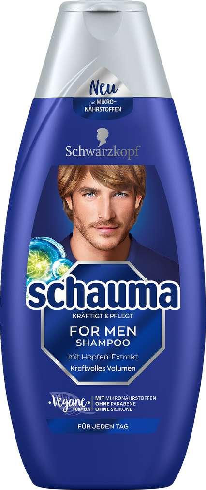 Abbildung des Sortimentsartikels Schwarzkopf Schauma Shampoo for Men 400ml