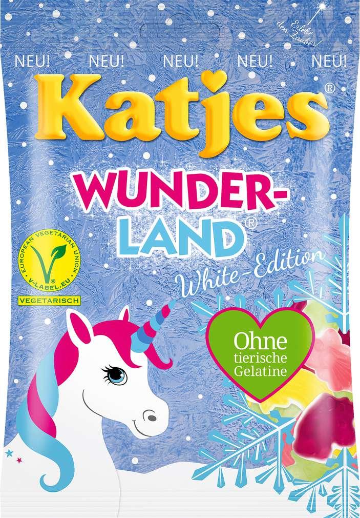 Abbildung des Sortimentsartikels Katjes Wunderland White o.tierische Gelatine 200g