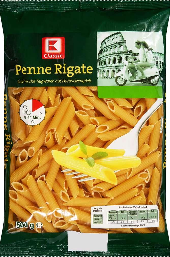 Abbildung des Sortimentsartikels K-Classic Penne Rigate 500g