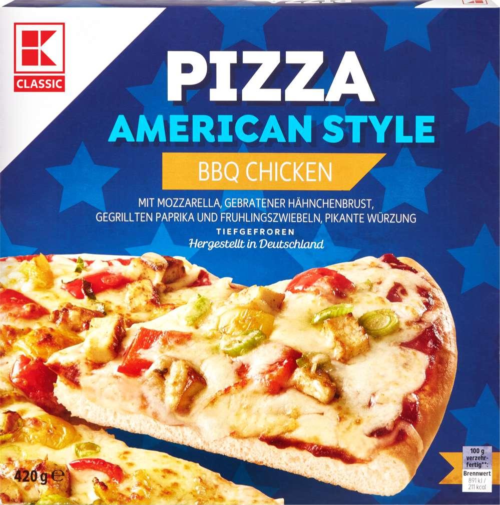 Abbildung des Sortimentsartikels K-Classic American Pizza BBQ Chicken 420g