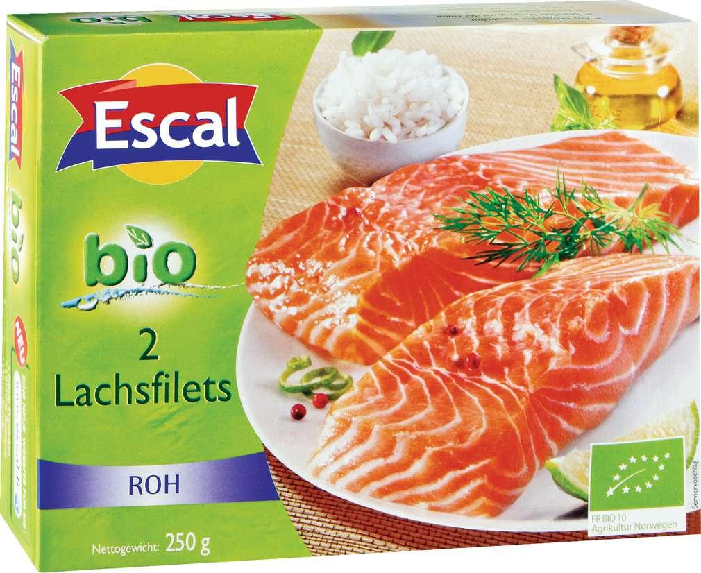 Abbildung des Sortimentsartikels Escal Lachsfilets roh 250g