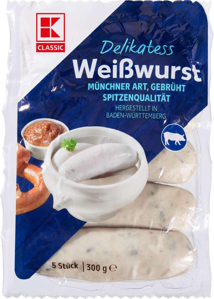Abbildung des Sortimentsartikels K-Classic Weißwurst 300g