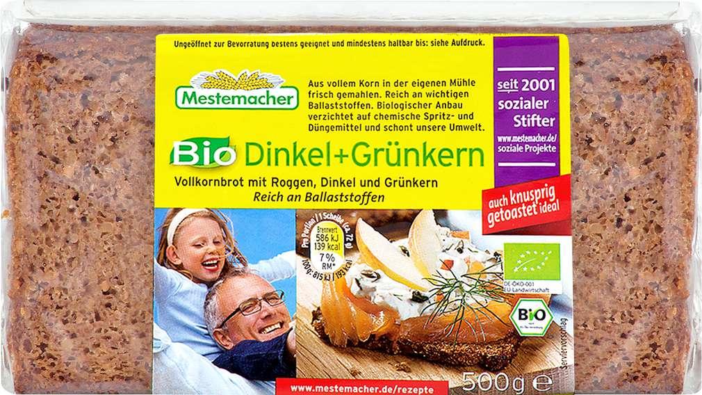 Abbildung des Sortimentsartikels Mestemacher Vollkornbrot Dinkel & Grünkern 500g