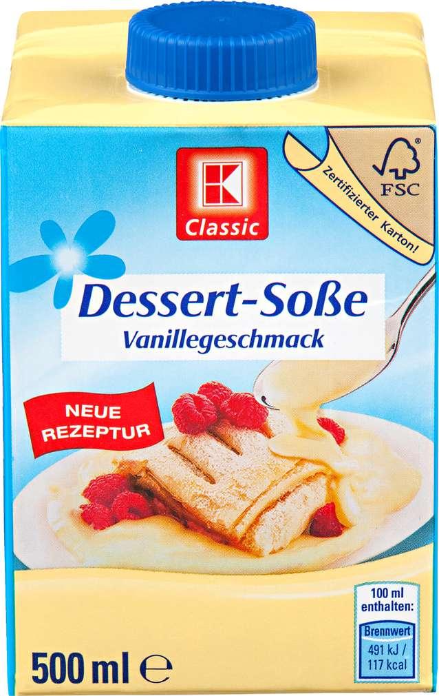 Abbildung des Sortimentsartikels K-Classic Dessert-Soße Vanillegeschmack 500ml
