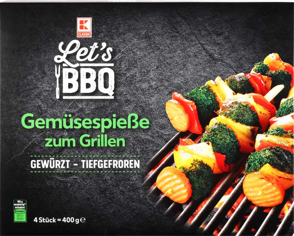 Abbildung des Sortimentsartikels K-Classic Grillspieße Gemüse 4x100g