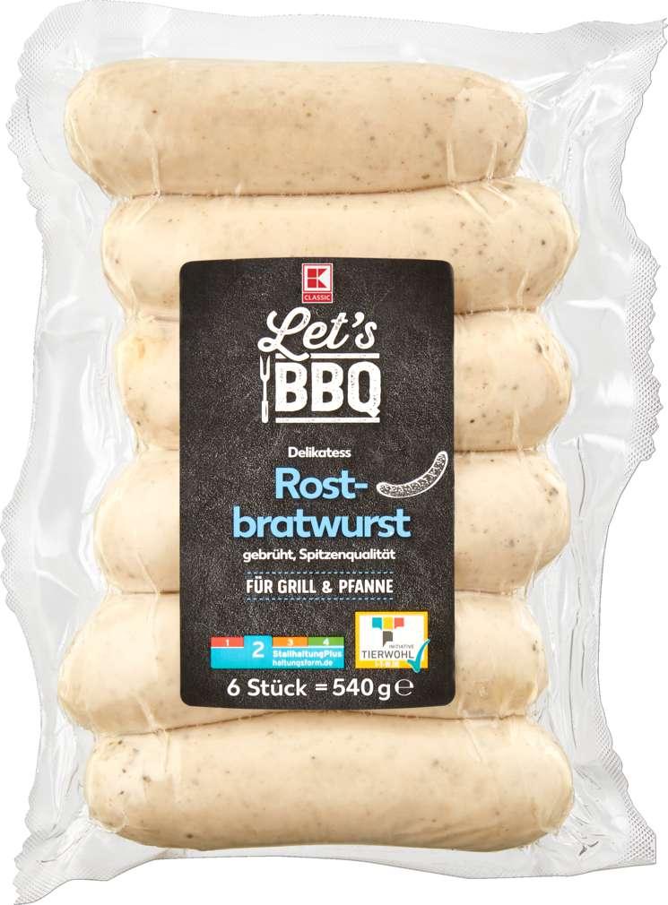 Abbildung des Sortimentsartikels K-Classic Let's BBQ Delikatess Rostbratwurst 540g
