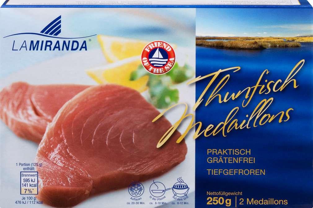 Abbildung des Sortimentsartikels I. Schroeder Thunfisch-Medaillons 250g