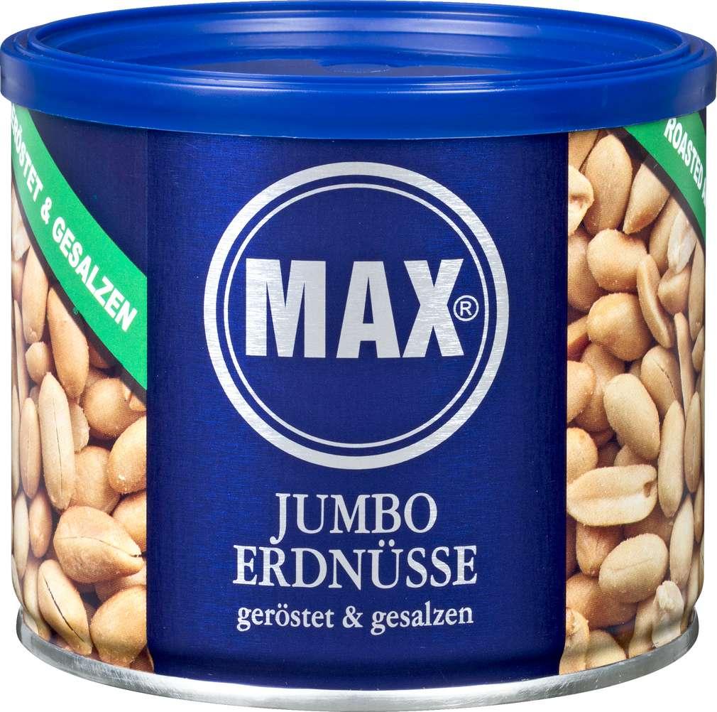 Abbildung des Sortimentsartikels Max Erdnüsse Jumbo geröstet, gesalzen 300g
