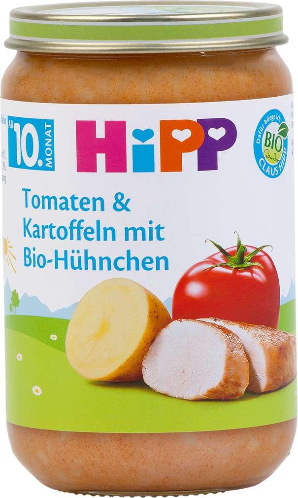 Abbildung des Sortimentsartikels Hipp Tomaten & Kartoffeln mit Bio-Hühnchen 220g