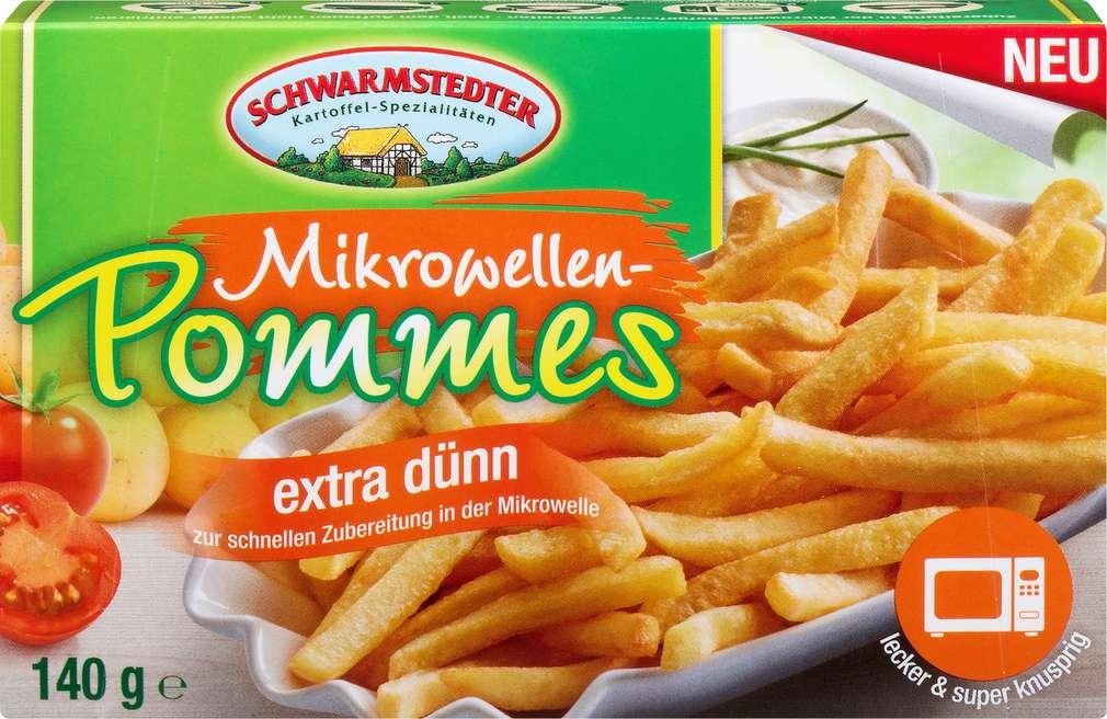 Abbildung des Sortimentsartikels Schwarmstedter Mikrowellen-Pommes extra dünn 140g