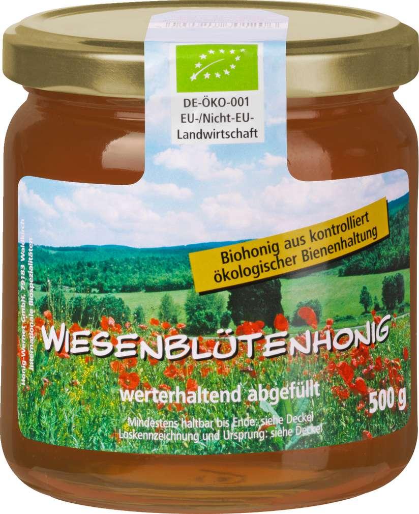 Abbildung des Sortimentsartikels Wernet Honig Wiesenblütenhonig 500g