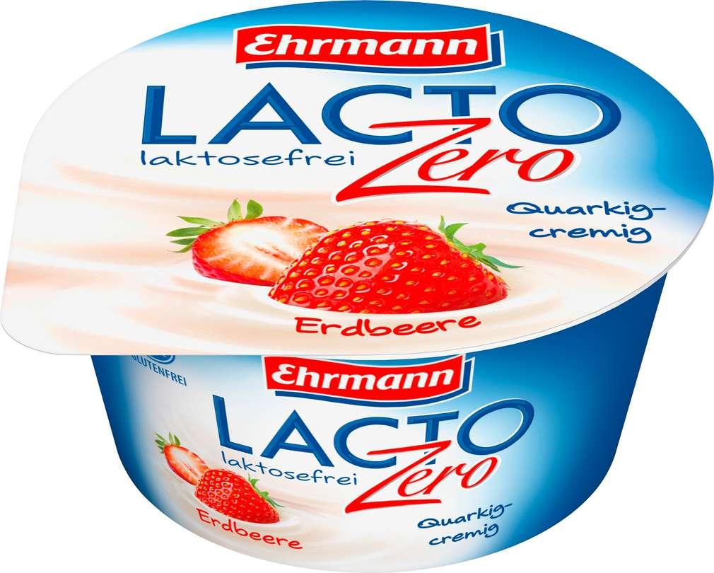 Abbildung des Sortimentsartikels Ehrmann LACTO Zero Quark-Joghurt-Creme Erdbeere 135g