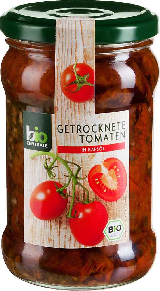 Abbildung des Sortimentsartikels Bio-Zentrale Getrocknete Tomaten in Rapsöl 270g
