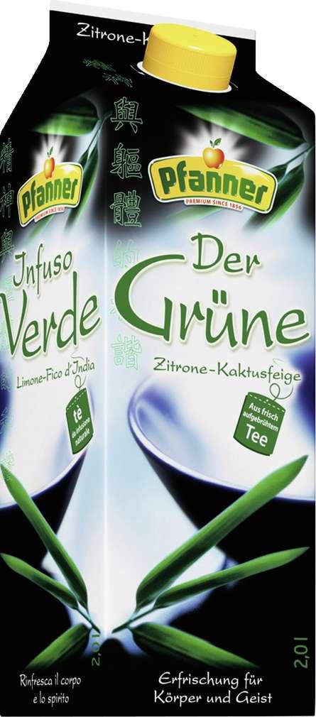Abbildung des Sortimentsartikels Pfanner Der Grüne Zitrone-Kaktusfeige 2l