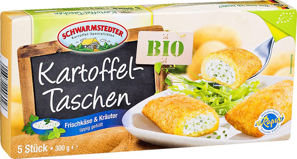 Abbildung des Sortimentsartikels Schwarmstedter Bio-Kartoffel-Taschen mit Frischkäse 300g