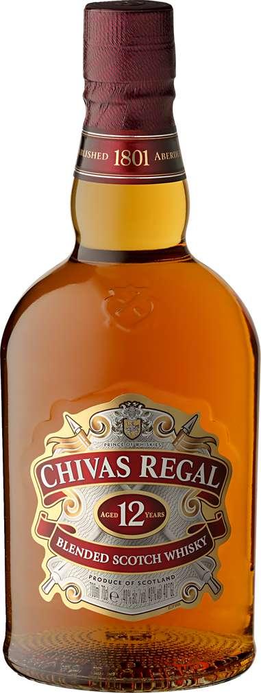 Abbildung des Sortimentsartikels Chivas Regal Blended Scotch Whisky 12 Jahre 0,7l