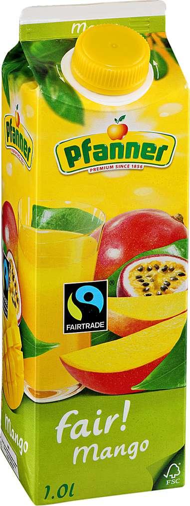 Abbildung des Sortimentsartikels Pfanner fair! Mango-Maracuja-Nektar 1l