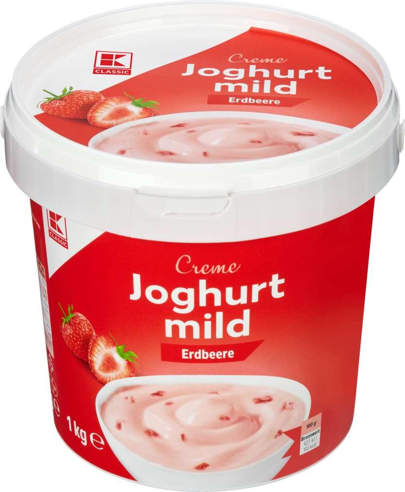 Abbildung des Sortimentsartikels K-Classic Joghurt mild Erdbeere 1kg