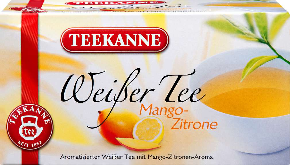 Abbildung des Sortimentsartikels Teekanne Weißer Tee Mango-Zitrone 20x1,25g