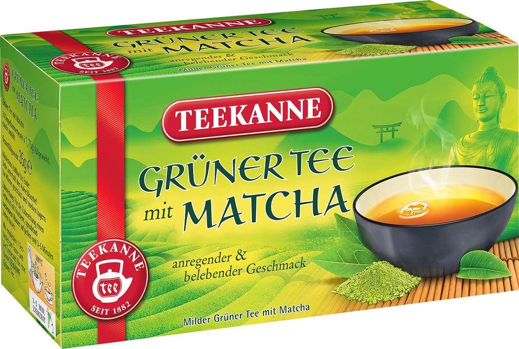 Abbildung des Sortimentsartikels Teekanne Grüner Tee mit Matcha 20x1,75g