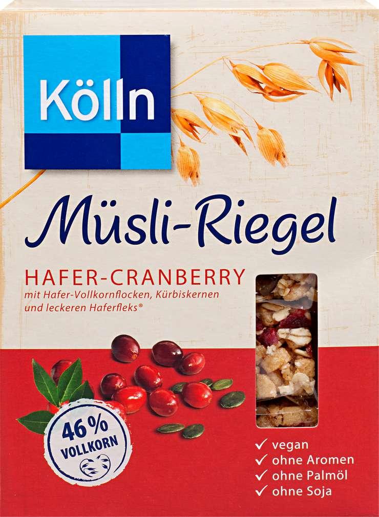 Abbildung des Sortimentsartikels Kölln Müsli-Riegel Hafer-Cranberry 4 x 25g