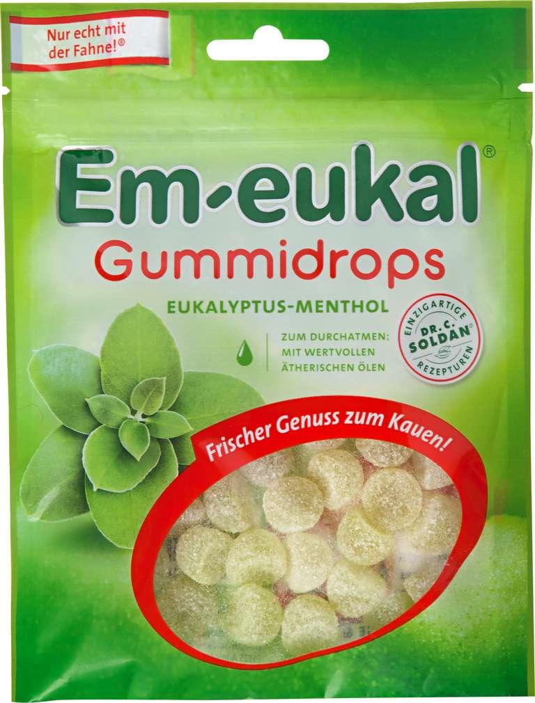 Abbildung des Sortimentsartikels Em-eukal Gummidrops Eukalyptus-Menthol 90g