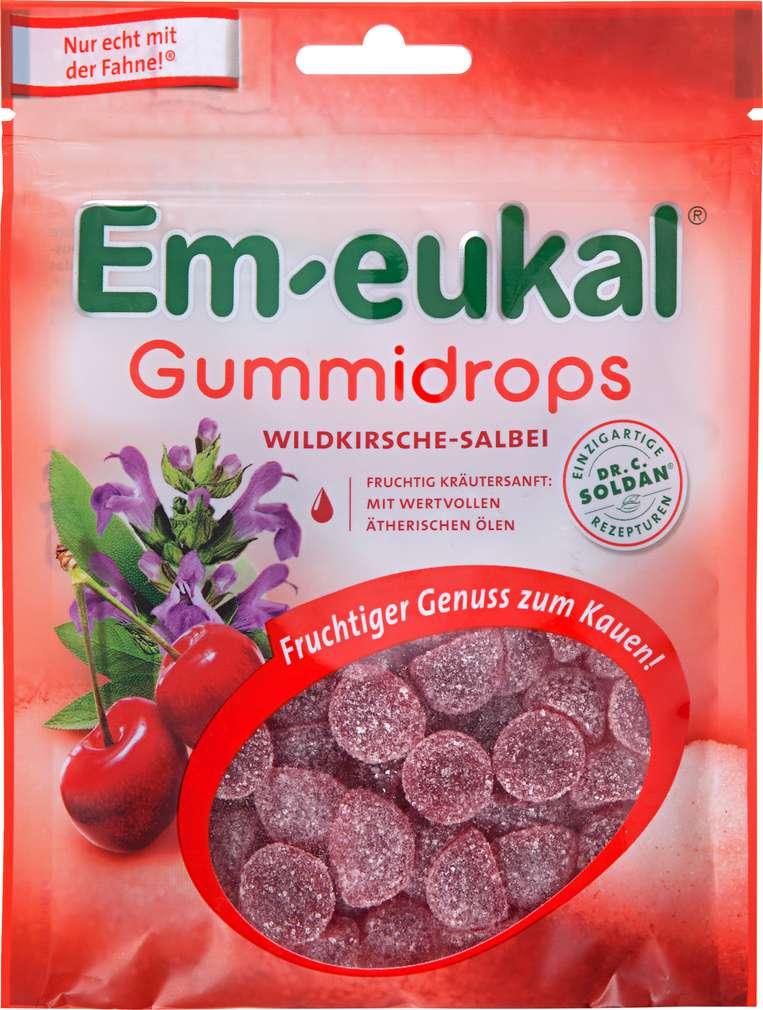 Abbildung des Sortimentsartikels Em-eukal Gummidrops Wildkirsche-Salbei 90g