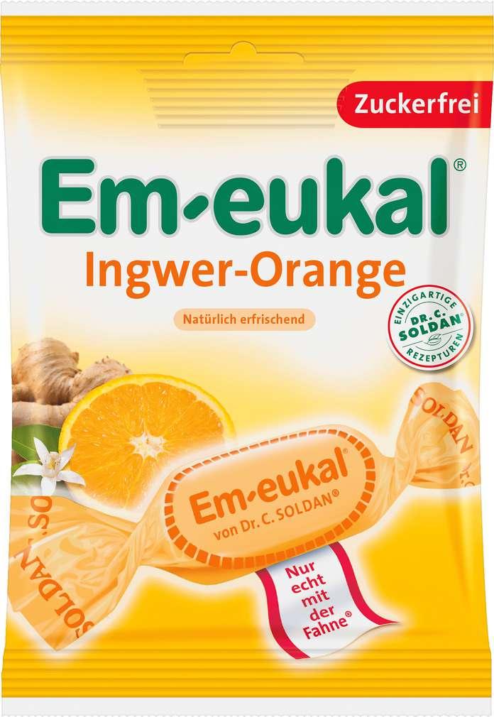 Abbildung des Sortimentsartikels Em-eukal Ingwer-Orange 75g