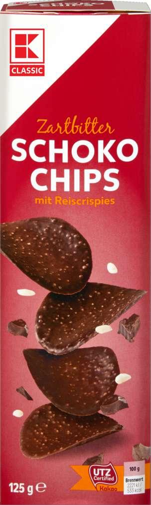 Abbildung des Sortimentsartikels K-Classic Schoko-Chips Zartbitter 125g